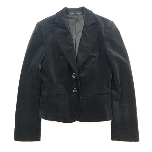 Express Jackets & Blazers - Express Design Studio Black Velvet Blazer Sz 4